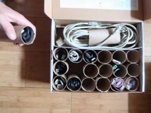 rollos de papel para cables