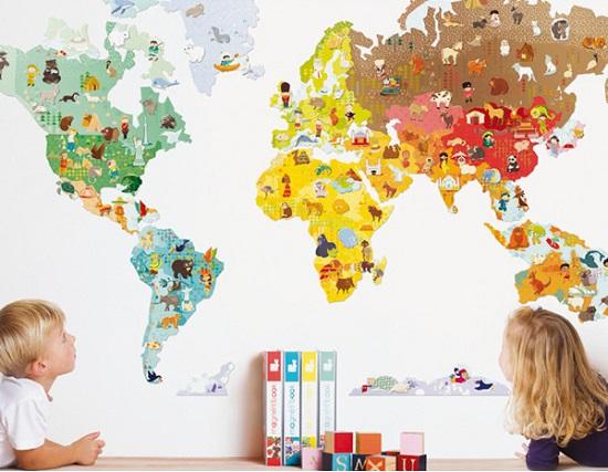 Aprendemos idiomas con los ni os de mj y que esas monta as tan altas son los pi ping inos - Vinilos para habitaciones de bebes ...