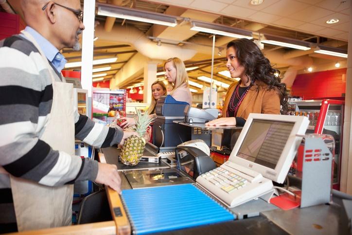supermercado cajero