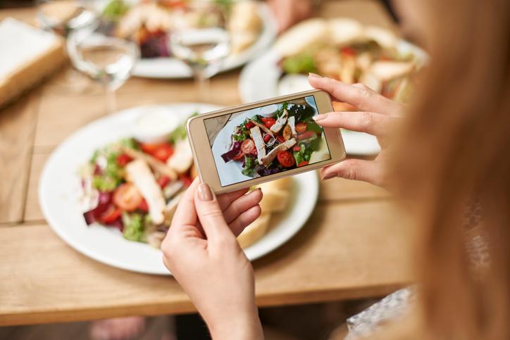 comida en redes sociales