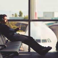 Viajero móvil aeropuerto