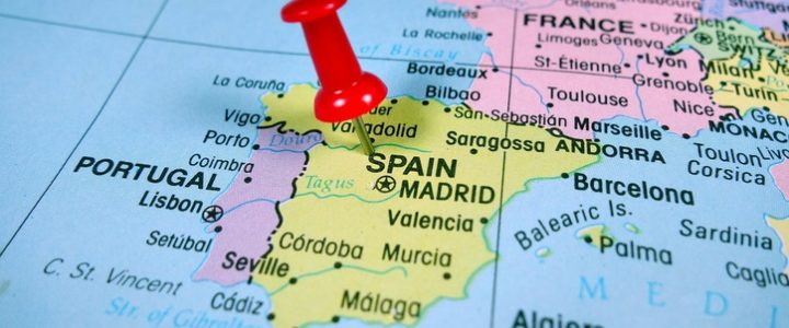 mapa españa pin