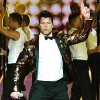 Ricky Martin actuando en las vegas All in