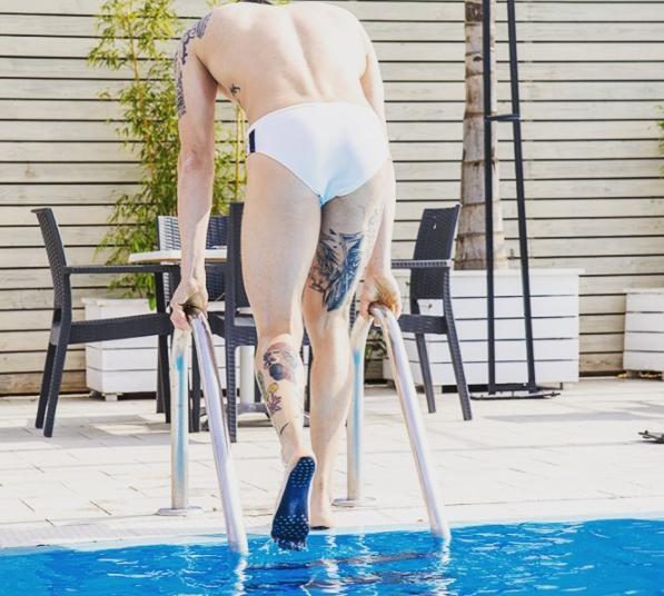 pegatina piscina