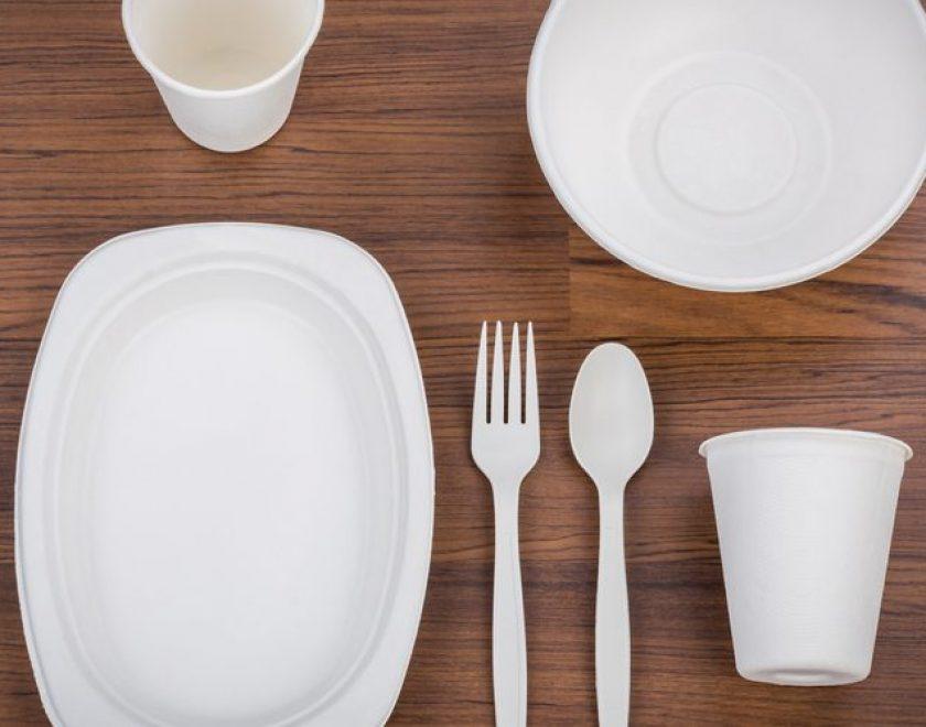 platos plastico cubiertos
