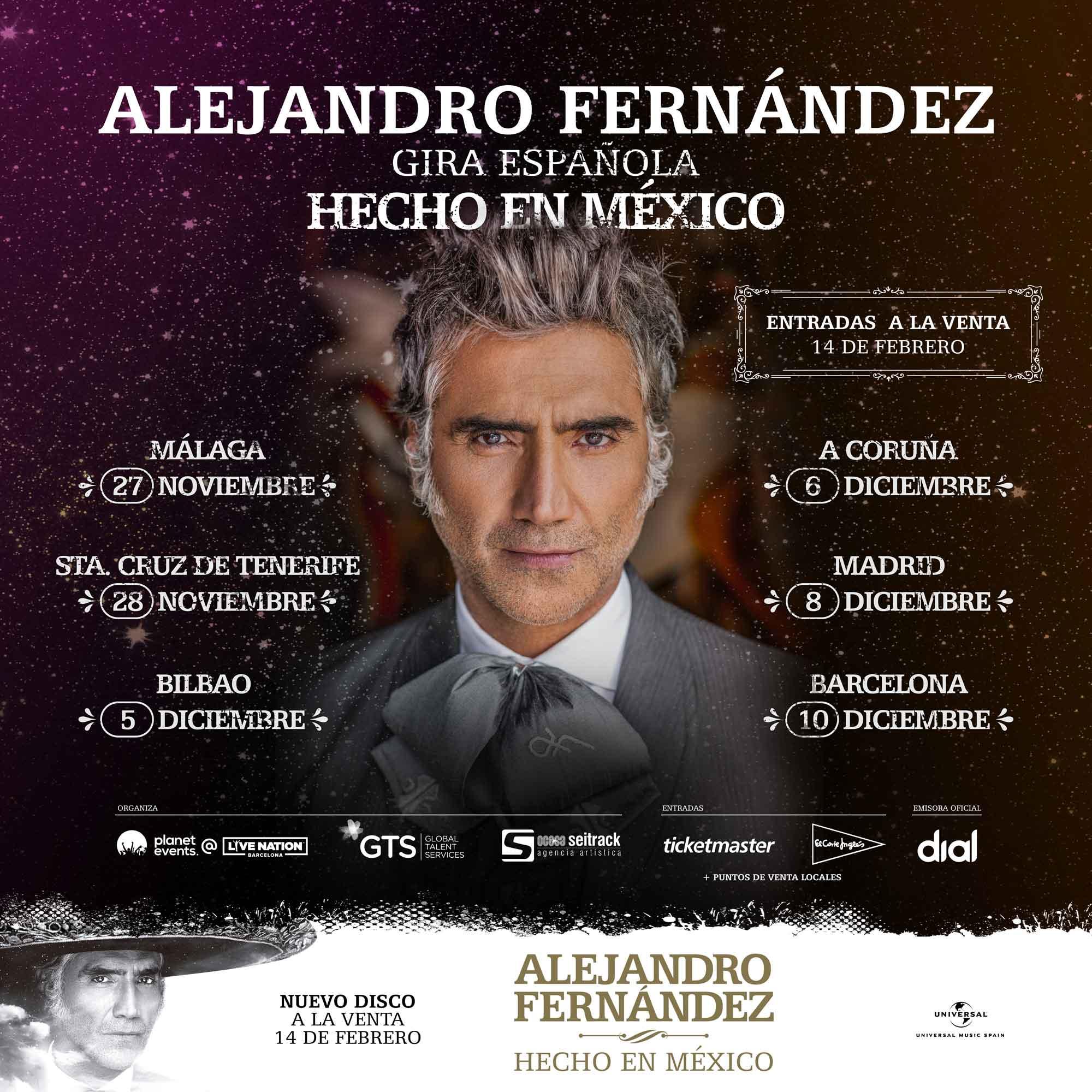 Alejandro Fernández regresa de la mano de Cadena Dial de