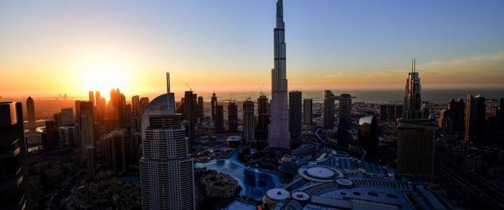 Burj Khalifa en Dubai, el edificio más alto del mundo