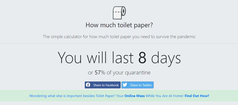 la web que te calcula cuánto te va a durar el papel higiénico