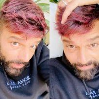 Ricky Martin se tiñe el pelo de rosa