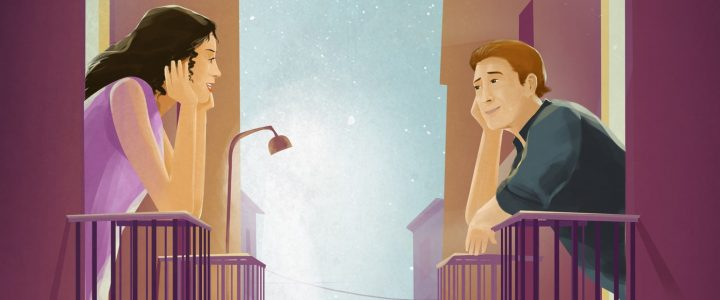 La historia de amor de dos vecinos gracias a la cuarentena