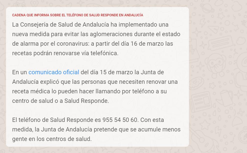 recetas via telefonica andalucia