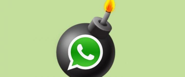 whatsapp bomba autodestructible mensajes