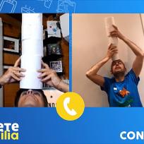 Jandro y Luis Larrodera tratan de entrar en Libro Guinness a base de papel higiénico