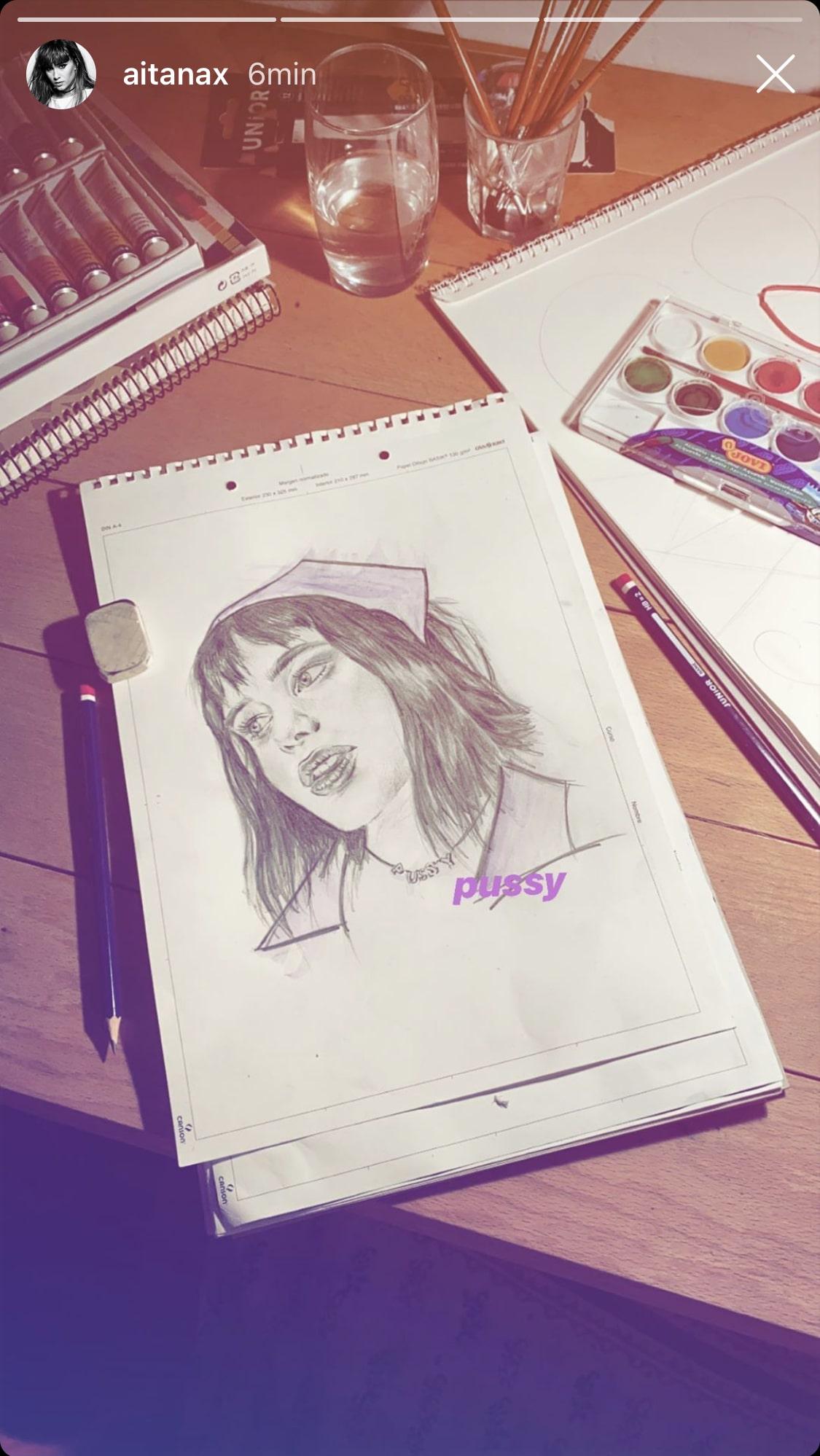 aitana dibujo instagram