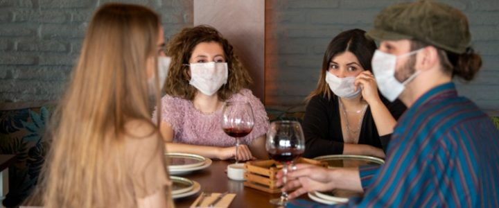 experimento gérmenes coronavirus restaurante