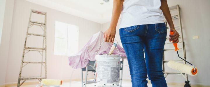 mujer casa reforma interiorismo coronavirus