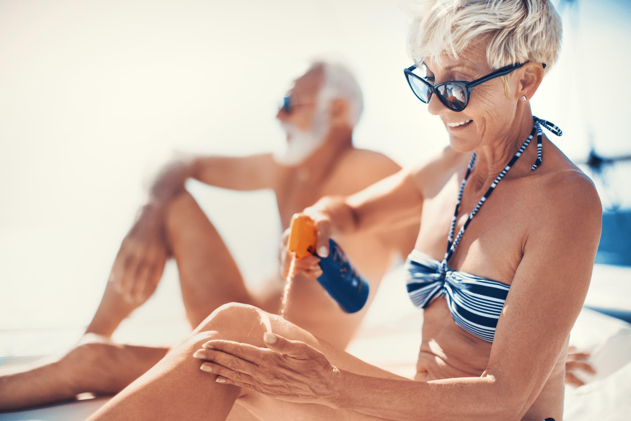manchas sol playa crema