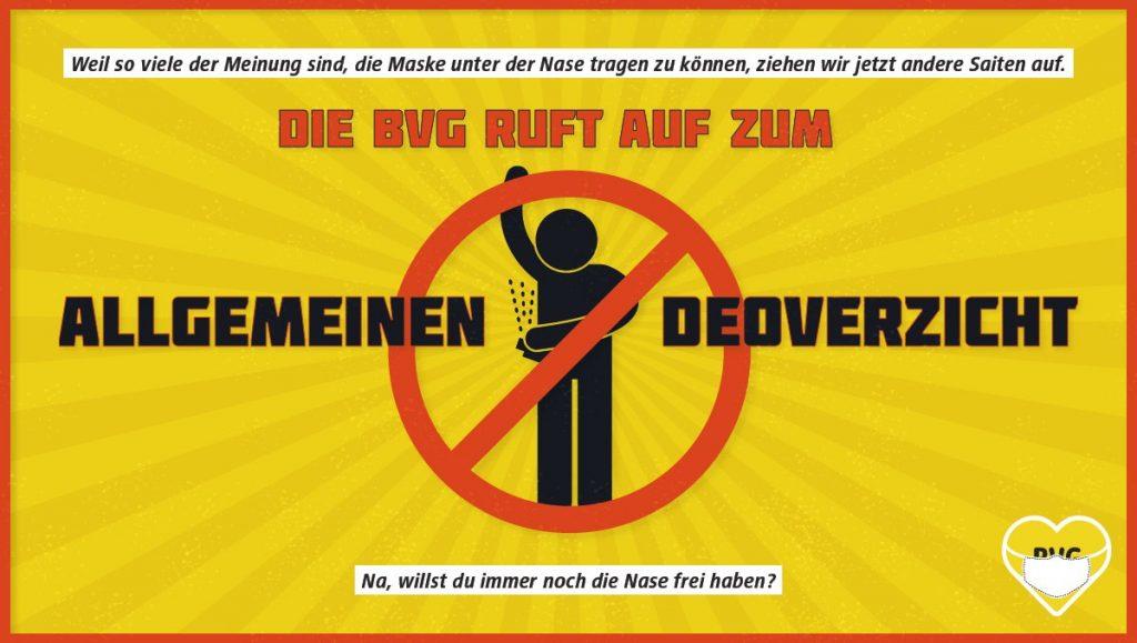 Metro de Berlín pide a sus usuarios no usar desodorante para el buen uso de mascarillas
