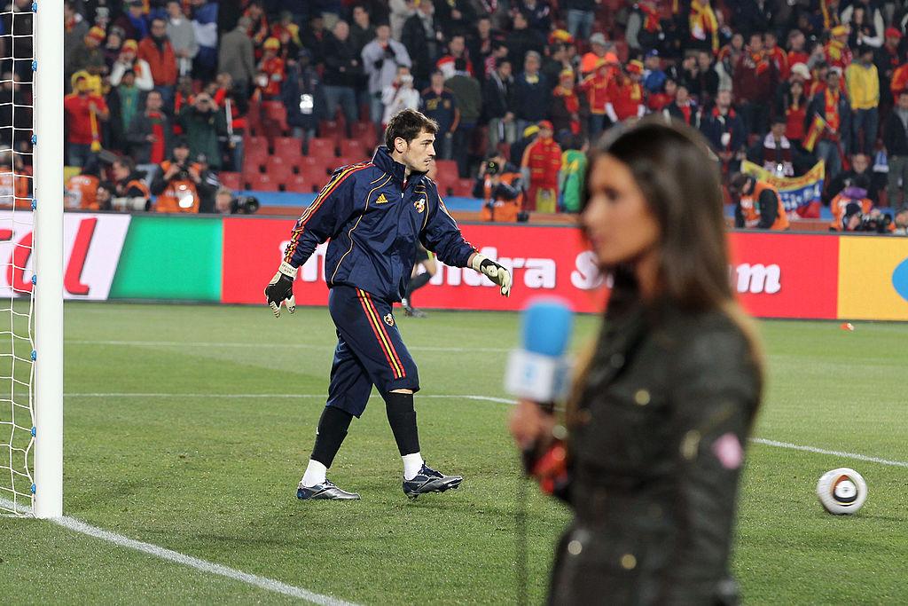 Iker Casillas y Sara Carbonero durante el Mundial de Sudáfrica