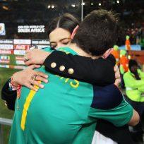 Sara Carbonero e Iker Casillas en el Mundial de Sudáfrica 2010