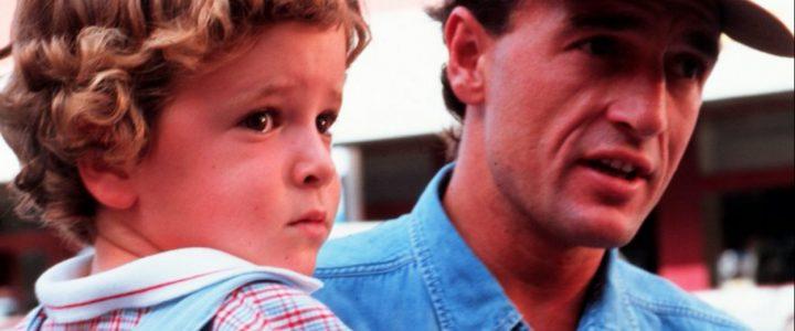 Alessandro Lequio junto a su hijo, de pequeño