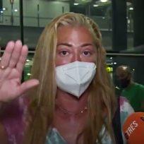 belén esteban aeropuerto coronavirus medidas