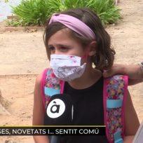 """La niña viral por su comentario sobre las mascarillas: """"Mejor eso que morirse"""""""