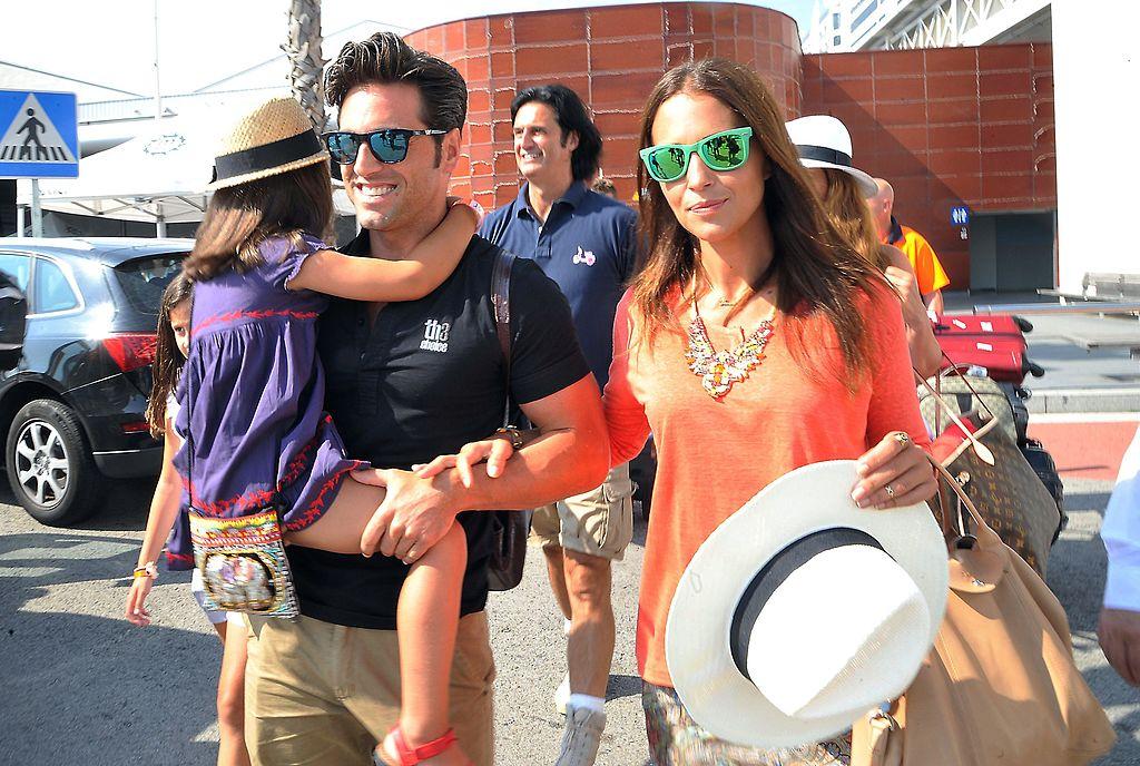 Paula Echevarría y David Bustamante junto a su hija Daniela