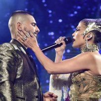Jennifer López y Maluma en concierto