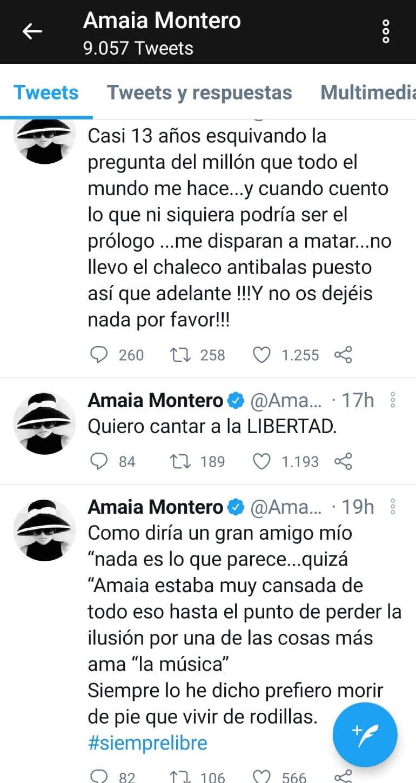 amaia montero twitter despedida polémica