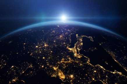vista de la Tierra desde el espacio