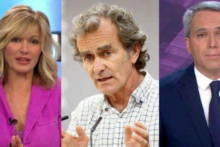 Susanna Griso, Fernando Simón y Vicente Vallés