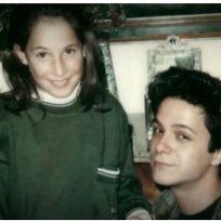 Malú y Alejandro Sanz en una imagen de su infancia
