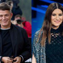 Alejandro Sanz y Laura Pausini