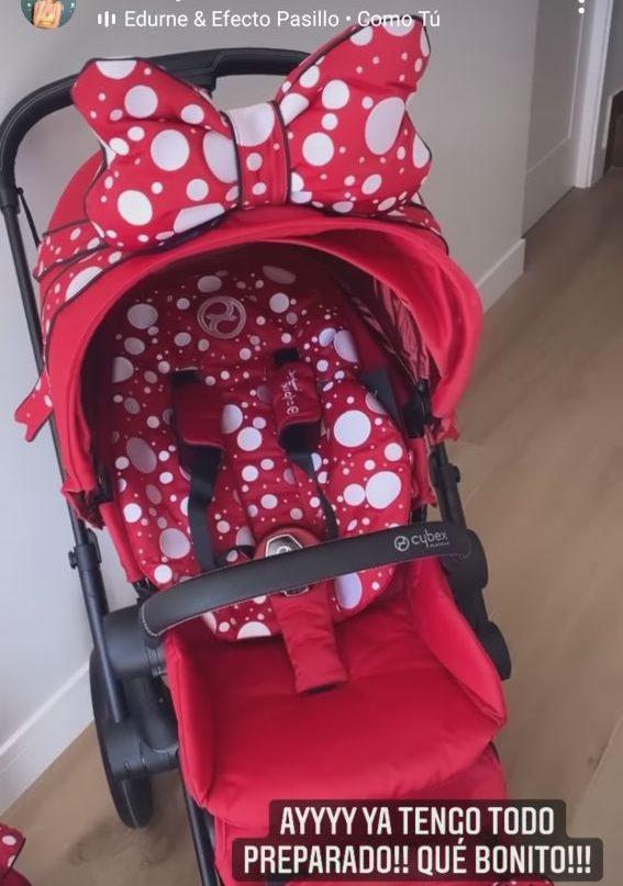 carrito de bebé de Edurne