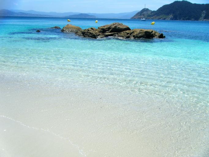 Paradise beach in Cies Islands