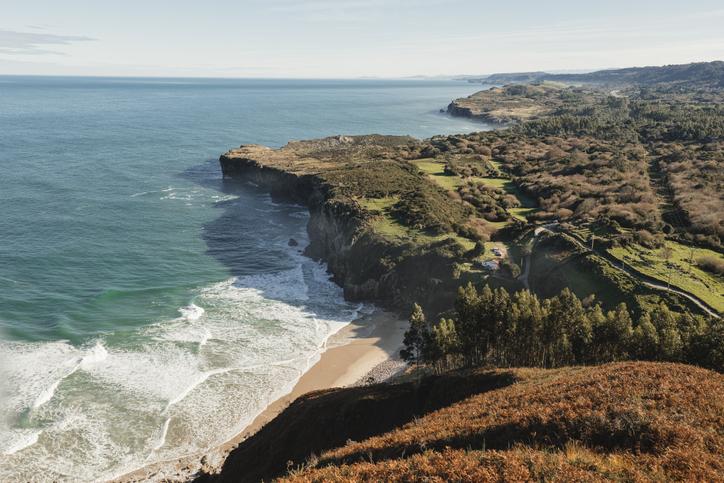 landscape of asturias coast