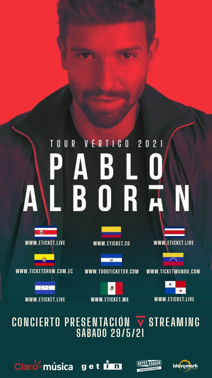 Pablo Alborán, conciertos latinoamérica