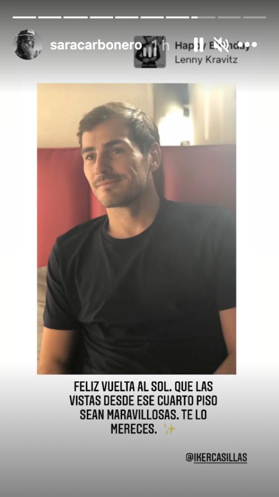 Iker Casillas felicitación de Sara Carbonero