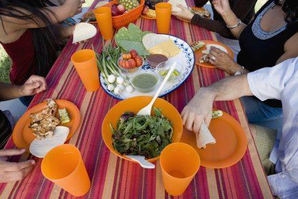 comidas picnic mesa
