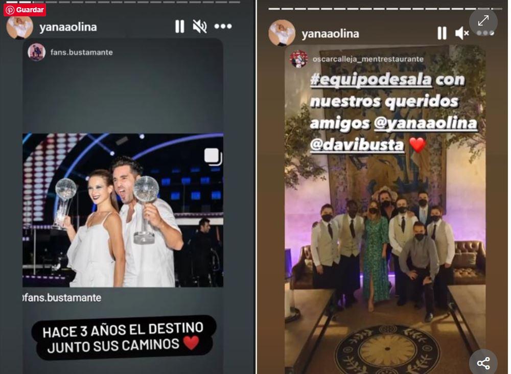 Bustamante y Yana Olina en tv