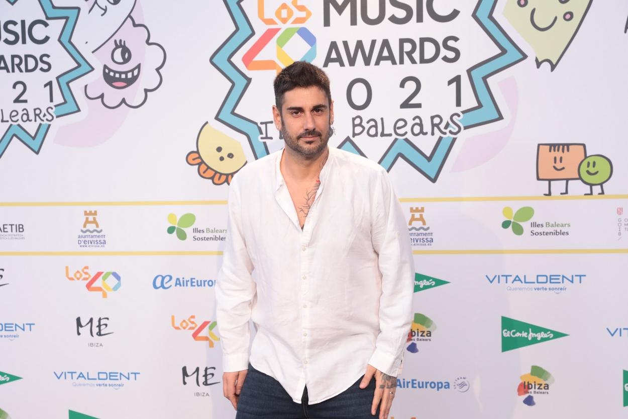 Melendi en la cena de nominados de LOS40 Music Awards