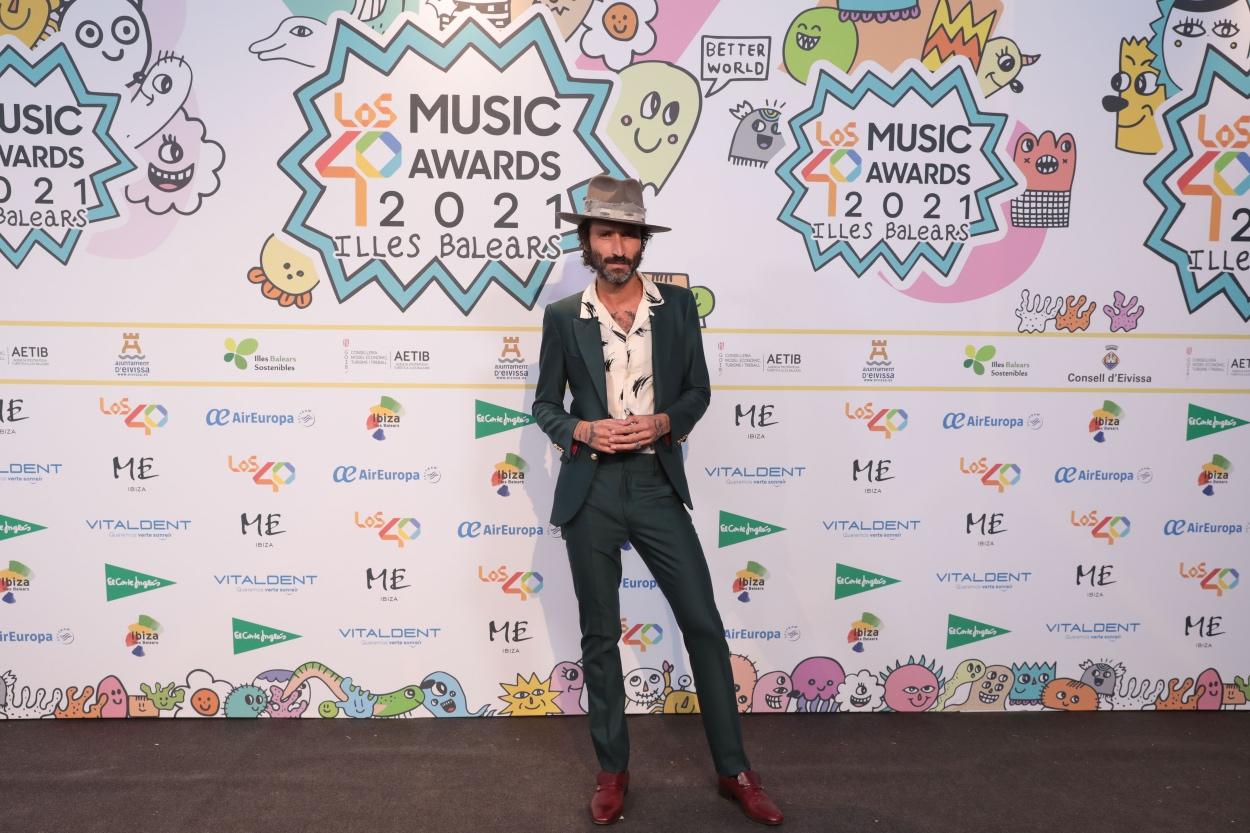 Leiva en la cena de nominados de LOS40 Music Awards