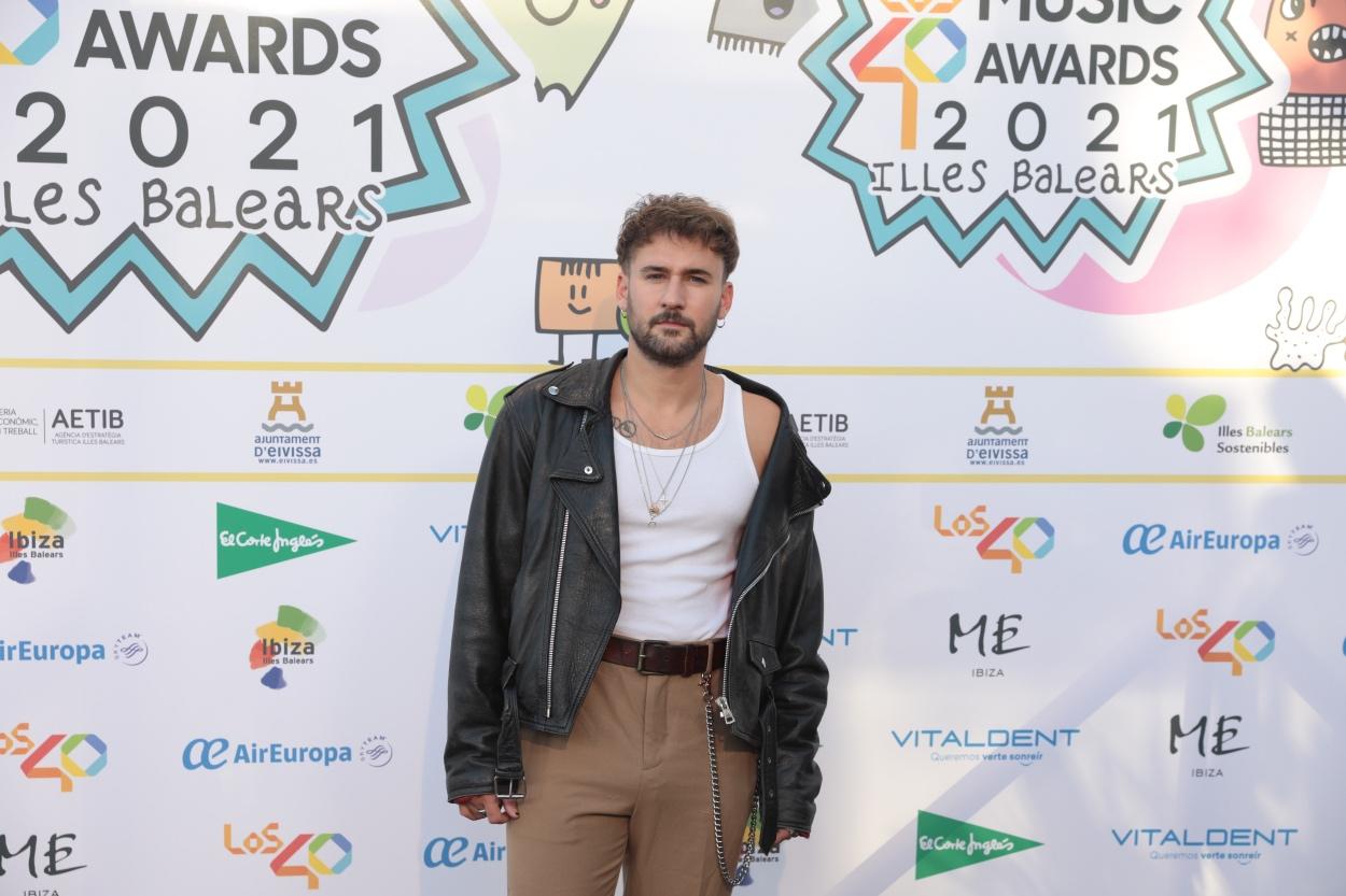 Dani Fernández en la cena de nominados de Los40 Music Awards