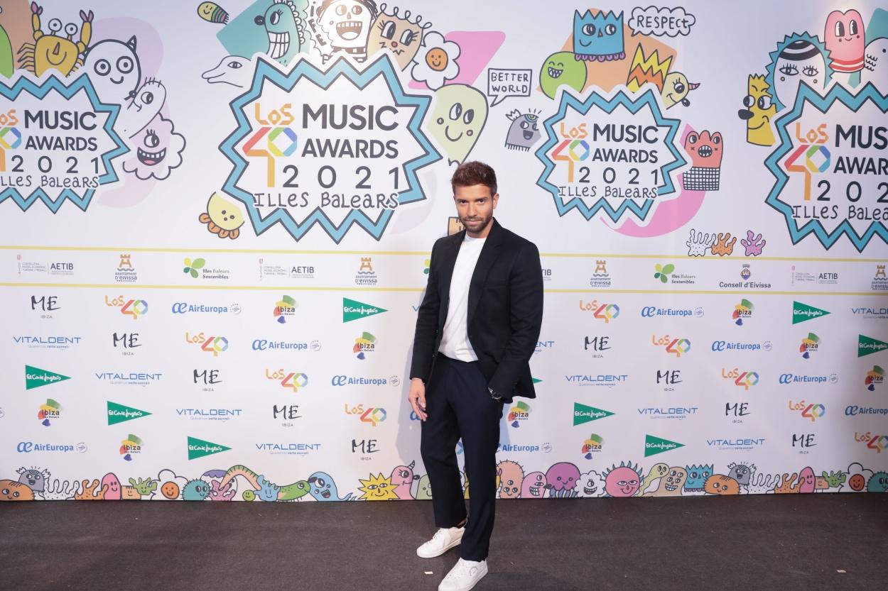 Pablo Alborán en la cena de nominados de LOS40 Music Awards