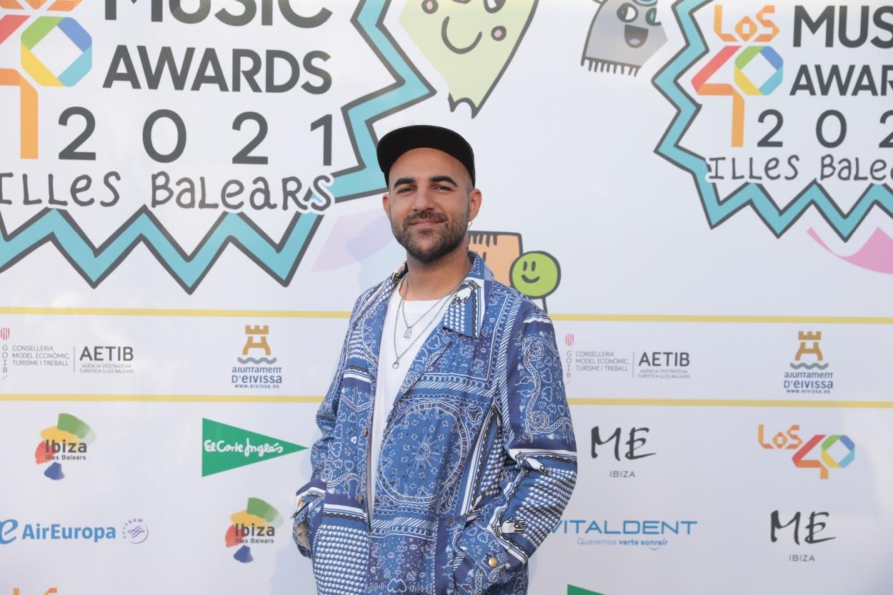 Nil Moliner en la cena de nominados de LOS40 Music Awards